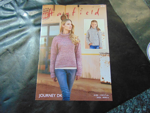Hayfield Journey Double Knitting Pattern 8192