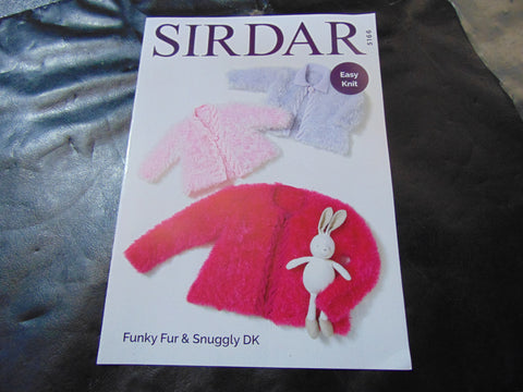 Sirdar Funky Fur & Snuggly Double Knitting Pattern 5166