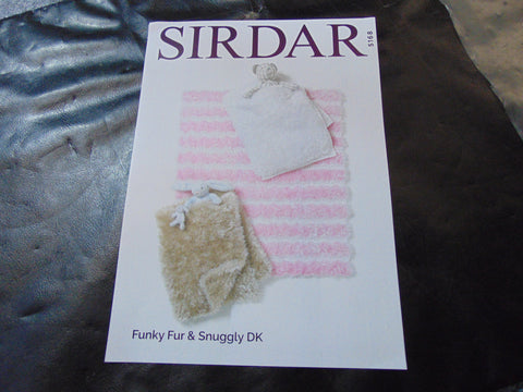 Sirdar Funky Fur & Snuggly Double Knitting Pattern 5168