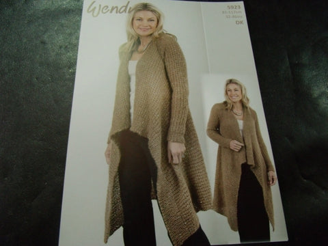 Wendy Celeste Waterfall Cardigan Pattern 5923