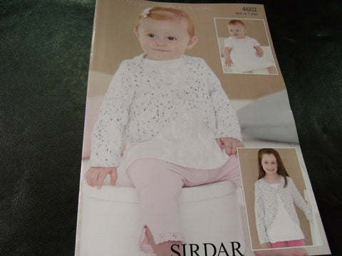 Sirdar Snuggly Spots Double Knitting Pattern 4602