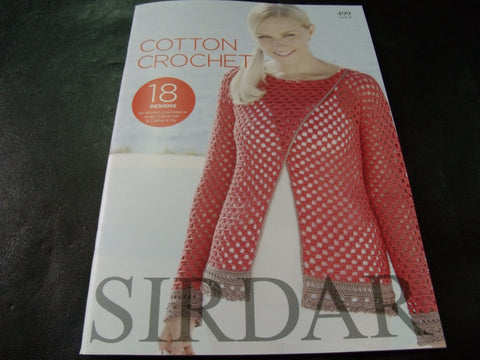 Sirdar Cotton Crochet Pattern Book 499