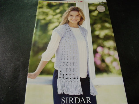 Sirdar Double Knitting Crochet Pattern 7218