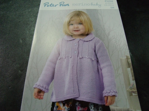Peter Pan Double Knitting Pattern P1258