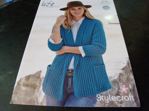 Stylecraft Life Double Knitting Pattern 9195