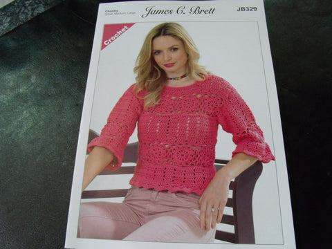 James C Brett Chunky Crochet Pattern JB329