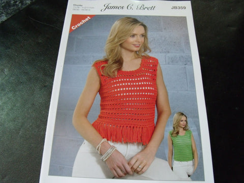 James C Brett Chunky Crochet Pattern JB359