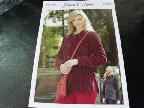 James C Brett Super Chunky Knitting Pattern JB334