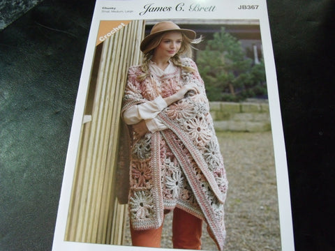 James C Brett Chunky Crochet Pattern JB367
