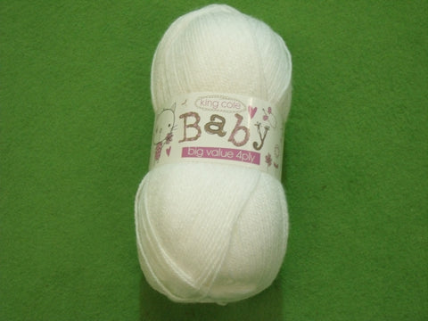King Cole Baby Big Value 4 Ply Knitting Yarn