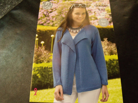 King Cole Double Knit Pattern for Cardigans 4343