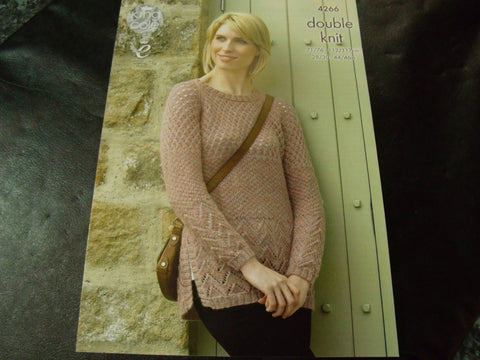 King Cole Double Knit Pattern for Cardigan and Sweater 4266