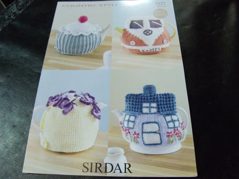 Sirdar Country Style Double Knitting Crochet and Knitting Pattern 7221