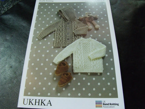 UKHKA Baby Double Knitting Pattern 56