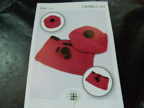 UKHKA Aran Childs Set Knitting Pattern 149