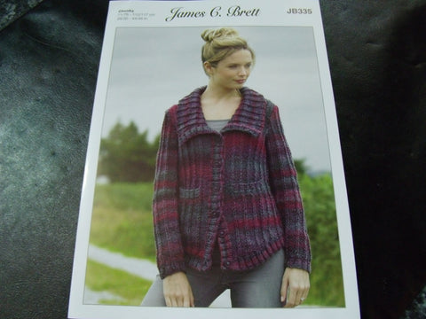 James C Brett Chunky Knitting Pattern JB335