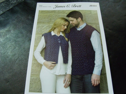 James C Brett Knitting Pattern JB364