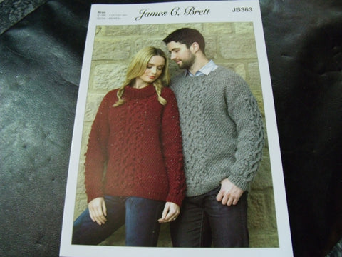 James C Brett Knitting Pattern JB363