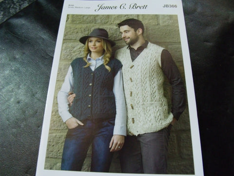 James C Brett Knitting Pattern JB366