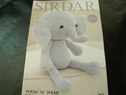 Sirdar Double Crepe Toy Crochet Pattern 2472
