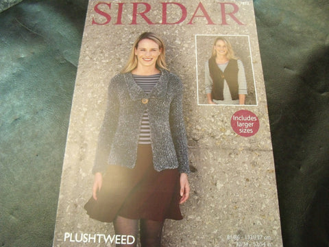 Sirdar Plushtweed Jacket and Waistcoat Pattern 7873