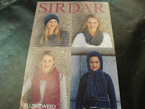 Sirdar Plushtweed Accessories Pattern 7874