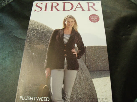 Sirdar Plushtweed Jacket Pattern 7876