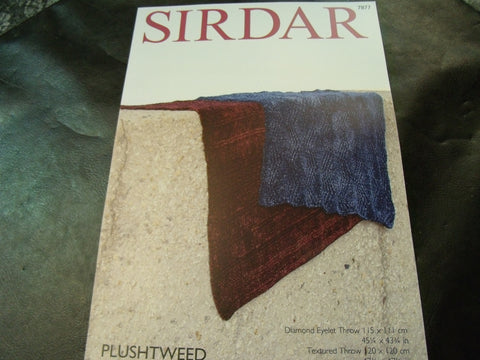 Sirdar Plushtweed Throws Pattern 7877
