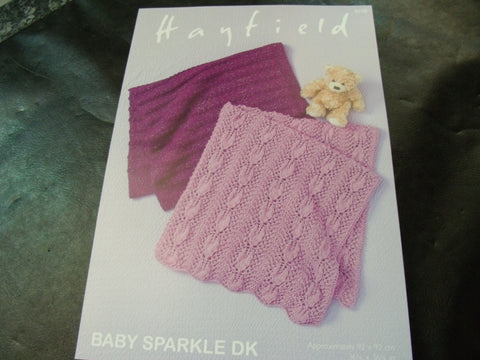 Sirdar Baby Sparkle Double Knitting Blanket Pattern 4658