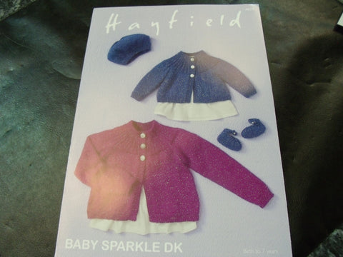 Hayfield Baby Sparkle Double Knitting Pattern 4659