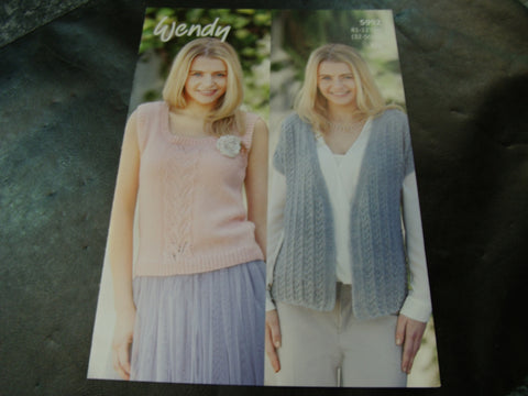 Wendy Double Knit Pattern 5992 Cap Sleeve Jacket and Sleeveless Top