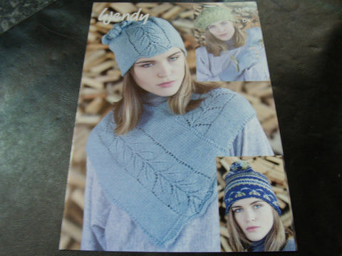 Wendy Neck Warmer,Hats and Fingerless Gloves Pattern 5989