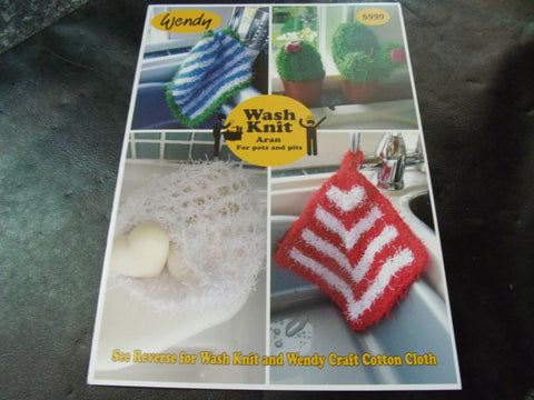 Wendy Wash Knit Aran for pots and pits fun Knitting Pattern 5999