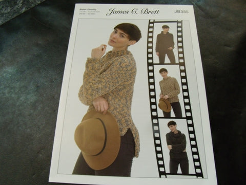 James C Brett Sweater Super Chunky Pattern JB385