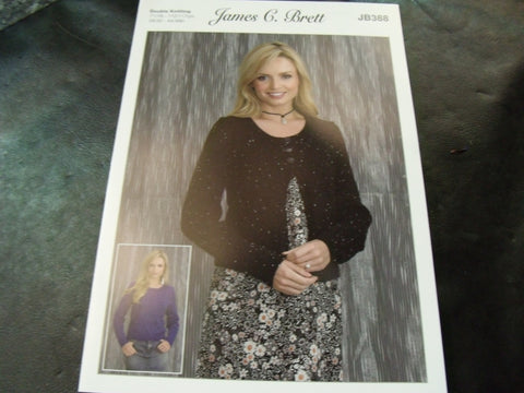 James C Brett Sweater and Cardigan Double Knitting Pattern JB388