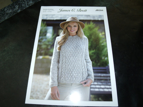James C Brett Sweater in Double Knitting Pattern JB394