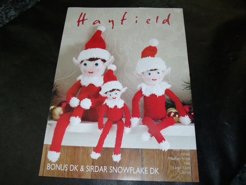 Christmas Elves Sirdar Knitting Pattern 2475