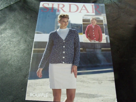 Sirdar Bouffle Soft & Light Chunky Knitting Pattern 7789