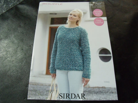 Sirdar Bouffle Soft & Light Chunky Crochet Pattern 7507