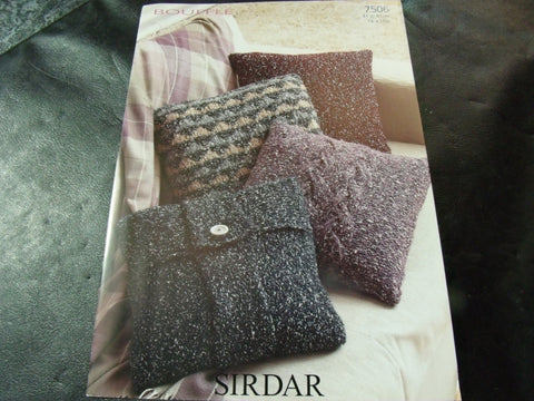 Sirdar Bouffle Soft & Light Chunky Cushion Cover Pattern 7506