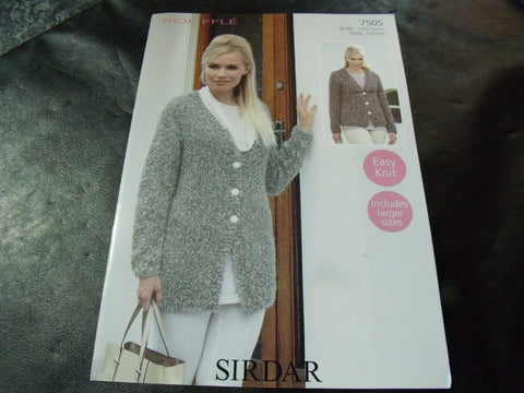Sirdar Bouffle Soft & Light Chunky Knitting Pattern 7505