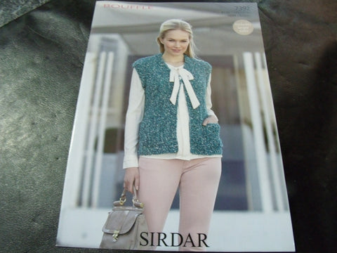 Sirdar Bouffle Soft & Light Chunky Knitting Pattern 7392