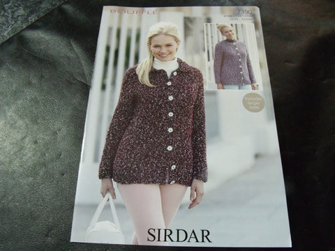 Sirdar Bouffle Soft & Light Chunky Knitting Pattern 7390