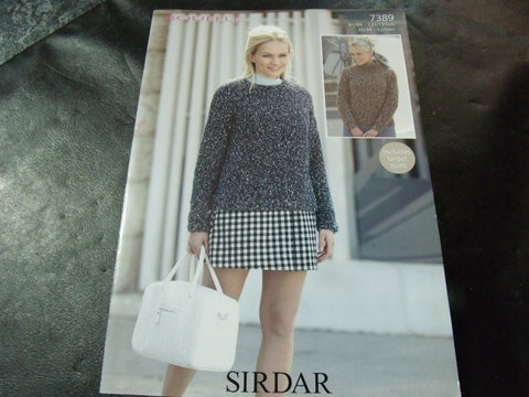 Sirdar Bouffle Soft & Light Chunky Knitting Pattern 7389