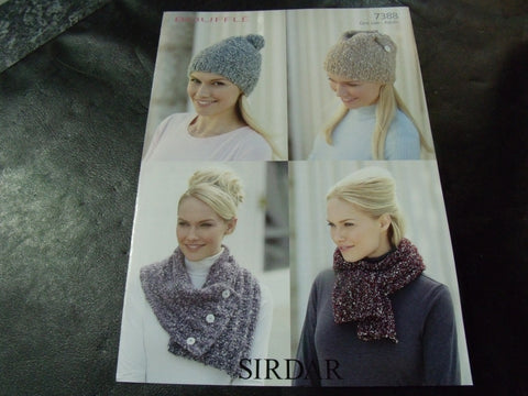 Sirdar Bouffle Soft & Light Chunky Knitting Pattern 7388