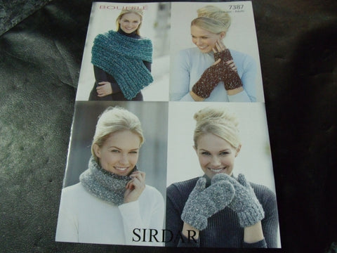 Sirdar Bouffle Soft & Light Chunky Knitting Pattern 7387