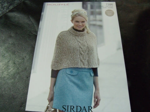 Sirdar Bouffle Soft & Light Chunky Knitting Pattern 7386
