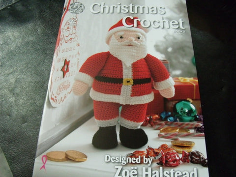 Christmas Crochet Book 2 Designs by Zoe Halstead