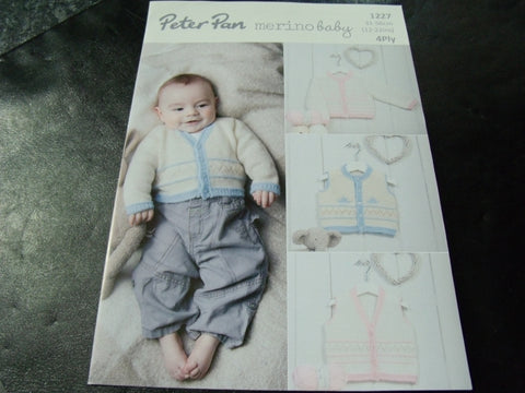 Peter Pan Merino Baby 4 Ply Pattern 1227