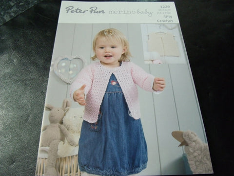 Peter Pan Merino Baby 4 Ply Crochet Pattern 1229